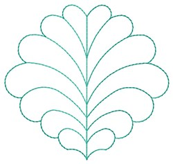 Feathered Leaf  Quilting embroidery design