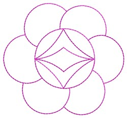 Abstract Flower Quilting embroidery design