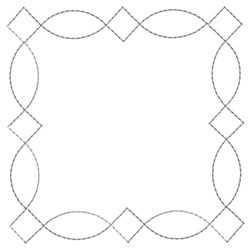 Decorative Square Quilting embroidery design