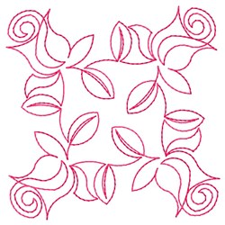 Roses Quilting Square embroidery design