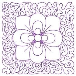 Stippled Flower Quilt embroidery design