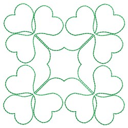 Shamrocks Quilting embroidery design