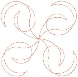 Swirls Quilt Block embroidery design