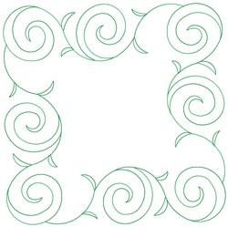 Floral Frame Quilt Block embroidery design