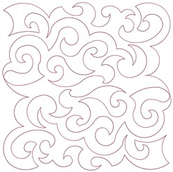 Swirly Quilt Block Pattern embroidery design