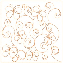 Butterfly Quilt Block Pattern embroidery design