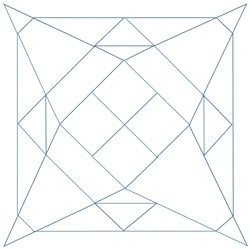 STAR SQUARE embroidery design