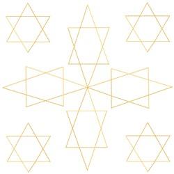 Star Of David Square embroidery design