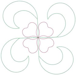 Flower Swirl Outline embroidery design