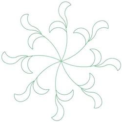 Leaf Swirl embroidery design
