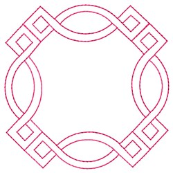 Decorative Square Quilt embroidery design