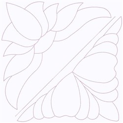 Floral Outline Square embroidery design