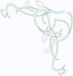 Leaf Corner embroidery design