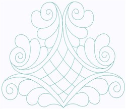 Swirly Scrollwork embroidery design