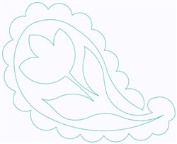 Paisley Tulip embroidery design