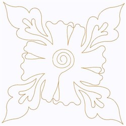 Poppy Outline embroidery design