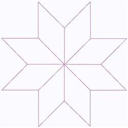 Diamond Star Outline embroidery design