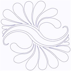 Splash Outline embroidery design
