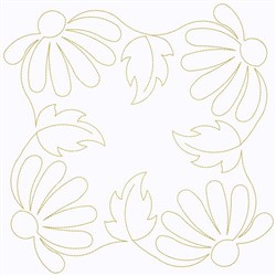 Square Of Daisies embroidery design