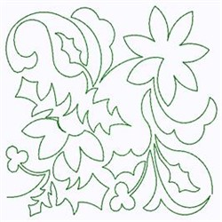 Christmas Floral embroidery design