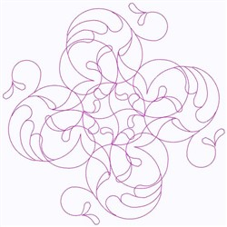 Feather Flurry Swirl embroidery design