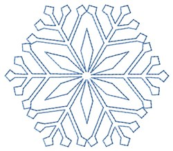 Snowflake Quilt embroidery design
