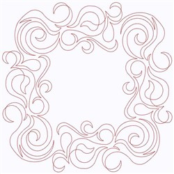Curly Border embroidery design