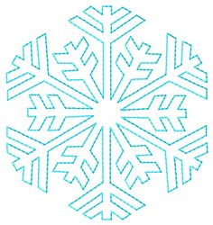 Snowflake Outline Quilt embroidery design