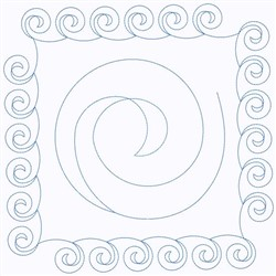 Curly Square embroidery design