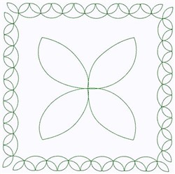 Leaves Square embroidery design