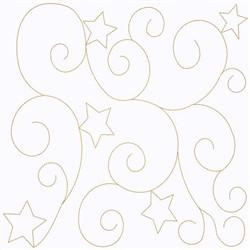 Swirl Of Stars embroidery design