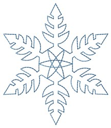 Pointed Snowflake Quilt embroidery design