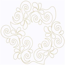 Feather Circle Swirl embroidery design