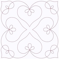 Swirl Of Hearts embroidery design
