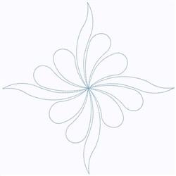 Feather Diamond embroidery design