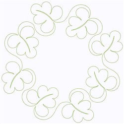 Leaf Circle embroidery design