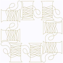 Swirly Spools Of Thread embroidery design