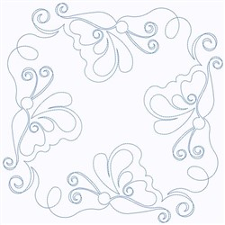 Swirl Of Butterflies embroidery design