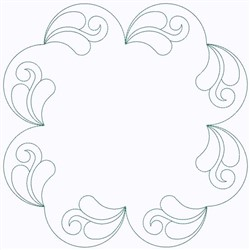 Feather Circle embroidery design