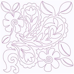 Floral Paisley embroidery design