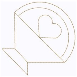 Heart Basket embroidery design