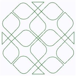 Geometric Outline embroidery design