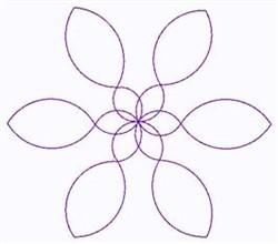 Pinwheel Outline embroidery design