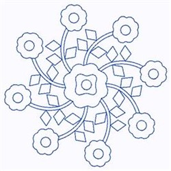 Scandinavian Floral Swirl embroidery design