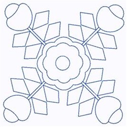 Scandinavian Flowers embroidery design