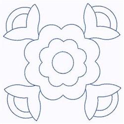 Scandinavian Flower embroidery design