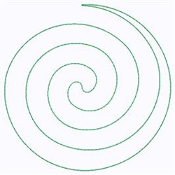 Big Spiral embroidery design