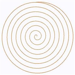Large Spiral embroidery design