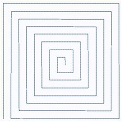 Spiral Square embroidery design