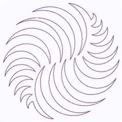 Spiral embroidery design